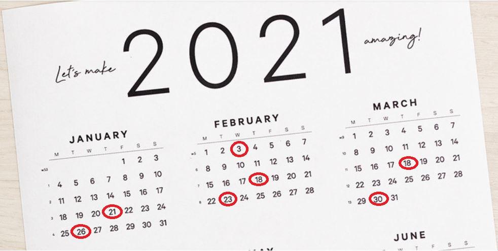 Kalendarium Boarding For Success Q1  2021